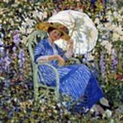 In The Garden Art Print by Frederick Carl Frieseke