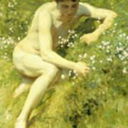In The Meadow Print by Henry Scott Tuke