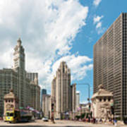 In The Middle Of Wacker And Michigan Art Print