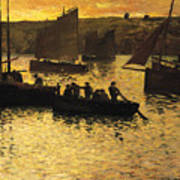 In The Port Art Print by Charles Cottet