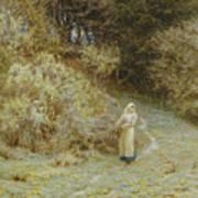 In The Primrose Wood Print by Helen Allingham