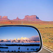 In The Rear View Mirror 2 Art Print