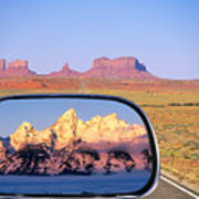 In The Rear View Mirror Art Print