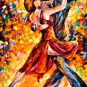 In The Rhythm Of Tango Art Print