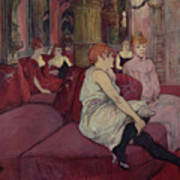 In The Salon At The Rue Des Moulins Art Print