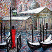 In The Snow In Venice Art Print