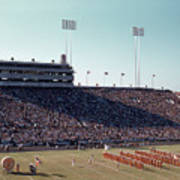 In This Vintage 1955 Photo The University Of Texas Longhorn Band Art Print