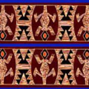 Inca Gecko Spirits Art Print