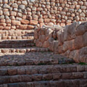 Inca Steps At Chinchero  Art Print