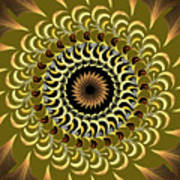 Incendia Kaleidoscope Art Print