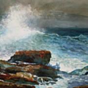 Incoming Tide Scarboro Maine Art Print