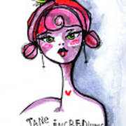 Incredulous Jane Art Print