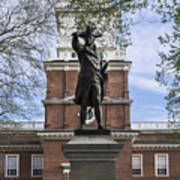 Independence Hall And Commodore Barry Art Print