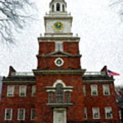 Independence Hall In Philadelphia Art Print