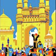 India, Castle, People, Street Art Print