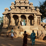 India Mahabalipuram  Art Print