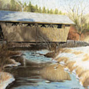 Indian Creek Covered Bridge Art Print by James Clewell