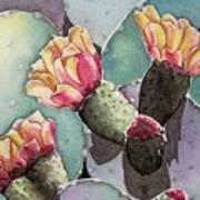 Indian Fig Cactus Art Print by Regina Ammerman