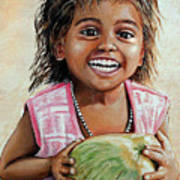 Indian Girl From The Slums Art Print by Mary Susanna Turcotte
