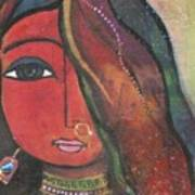 Indian Girl With Nose Ring Art Print