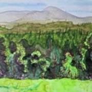 Bullhead Mountain, Indian Lake Overlook Panorama 3 Art Print