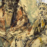 Indian Meeting Art Print