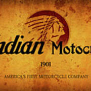 Indian Motocycle 1901 - America's First Motorcycle Company Art Print