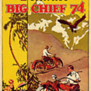 Indian Motorcycle Big Chief 74 Art Print