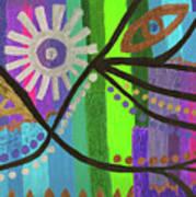 Indian Rainbow Dance Art Print