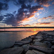 Indian River Inlet And Bay Sunset Art Print