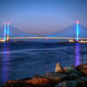 Indian River Inlet Bridge Twilight Art Print