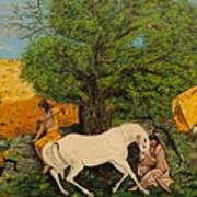 Indian Romance Art Print