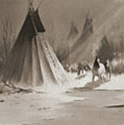 Indian Tee Pee Art Print