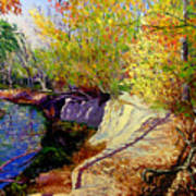 Indiana Creek Bank Art Print