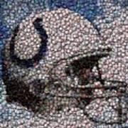 Indianapolis Colts Bottle Cap Mosaic Art Print