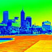 Indianapolis Heat Tone Art Print