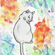 Indifferent Cat Art Print