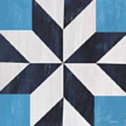 Indigo And Blue Quilt Art Print