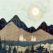 Indigo Forest Art Print