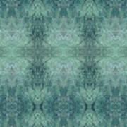 Indigo Lotus Lace Pattern 1 Art Print
