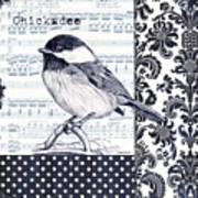 Indigo Vintage Songbird 2 Art Print