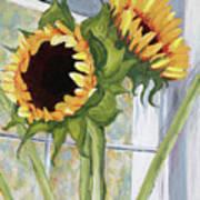Indoor Sunflowers II Print by Trina Teele