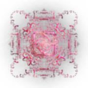 Indulgent Pink Lace Art Print