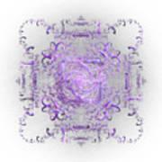 Indulgent Purple Lace Art Print