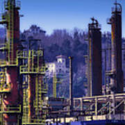 Industrial Archeology Refinery Plant 08 Art Print