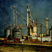 Industrial Farming In Texas Art Print