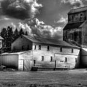 Industrial Landscape In Black And White 1 Art Print