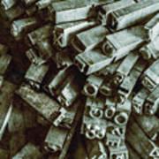 Industrial Letterpress Typeset  Art Print