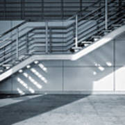 Industrial Stairway Art Print