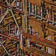 Industrial Storage And Distribution System Art Print